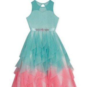 Rare Editions Big Girls Ombré Cascading Tulle Gown